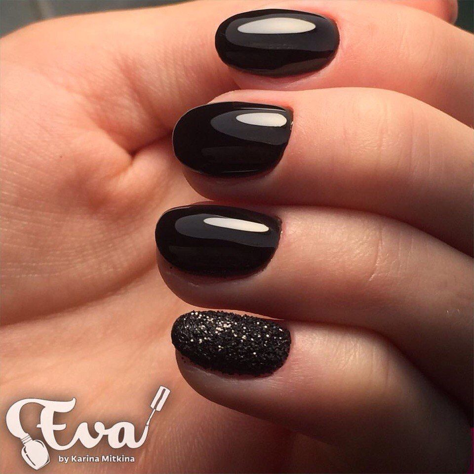 Black Nail Polish Designs For Short Nails Hession Hairdressing