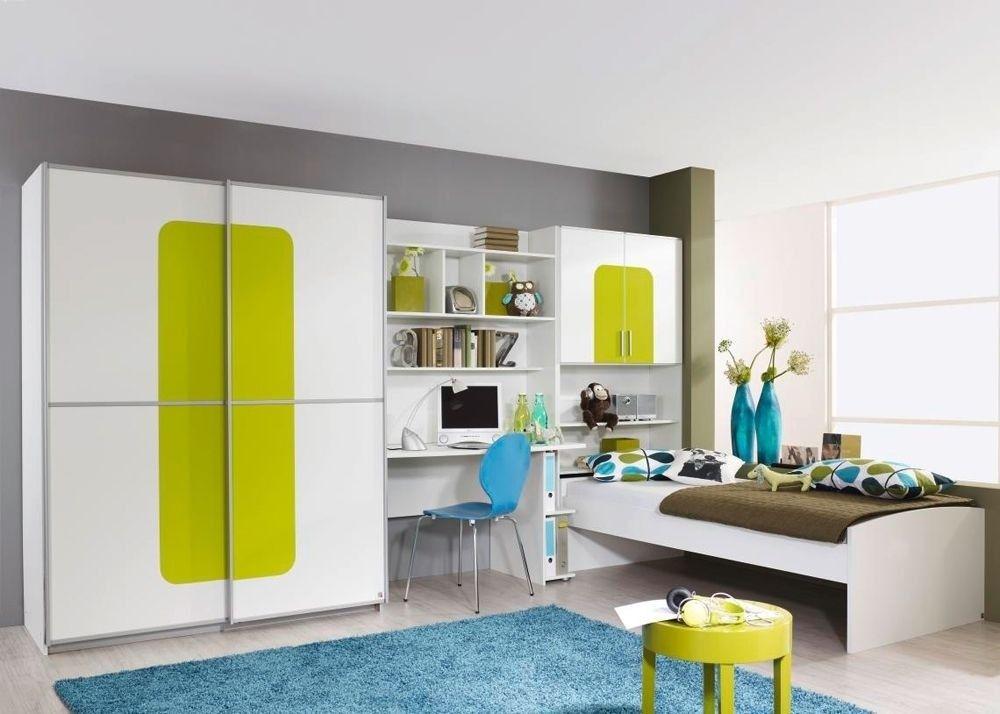 Kinderzimmermöbel weiß grün  Jugendzimmer komplett Utah Weiß Grün 8451. Buy now at https://www ...
