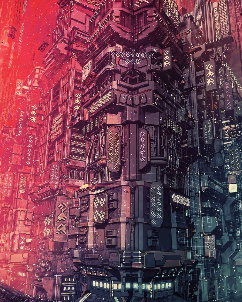 Cyberpunk City Wallpaper Cyberpunk City Futuristic City Futuristic Architecture