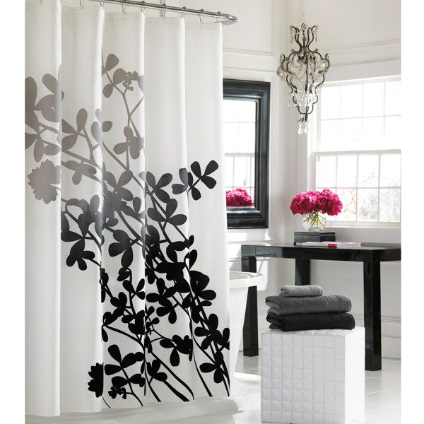 Ombre Shower Curtain Pattern Fabric Shower Curtains Floral