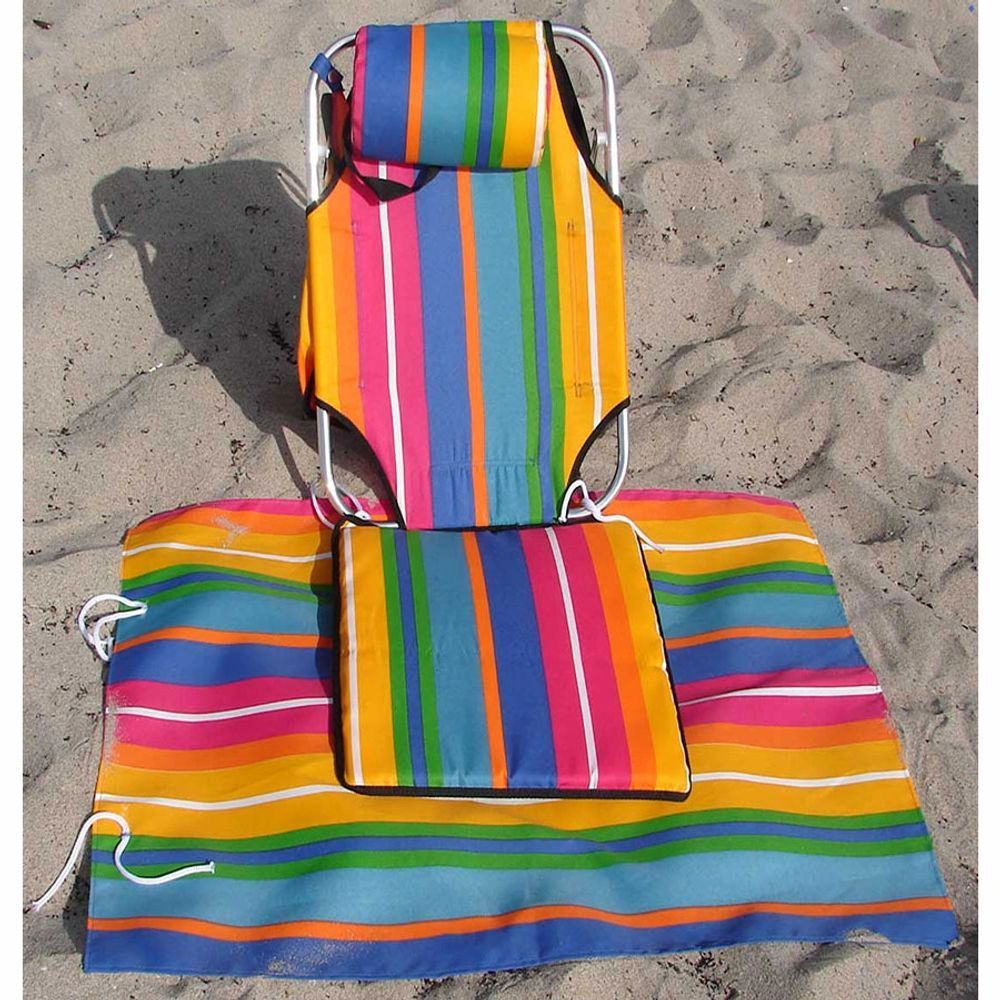 Beach Chair Portable Lightweight Backpack Hiking Camping 1.5 lb Pack in Suitcase