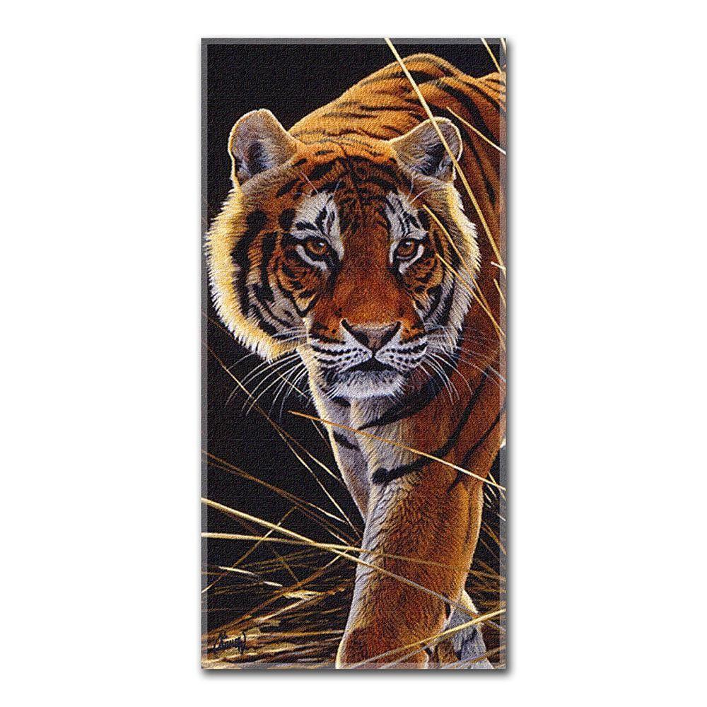 Hautman Bros. - Tiger Hunt Fiber Reactive Beach Towel (28in x 58in)