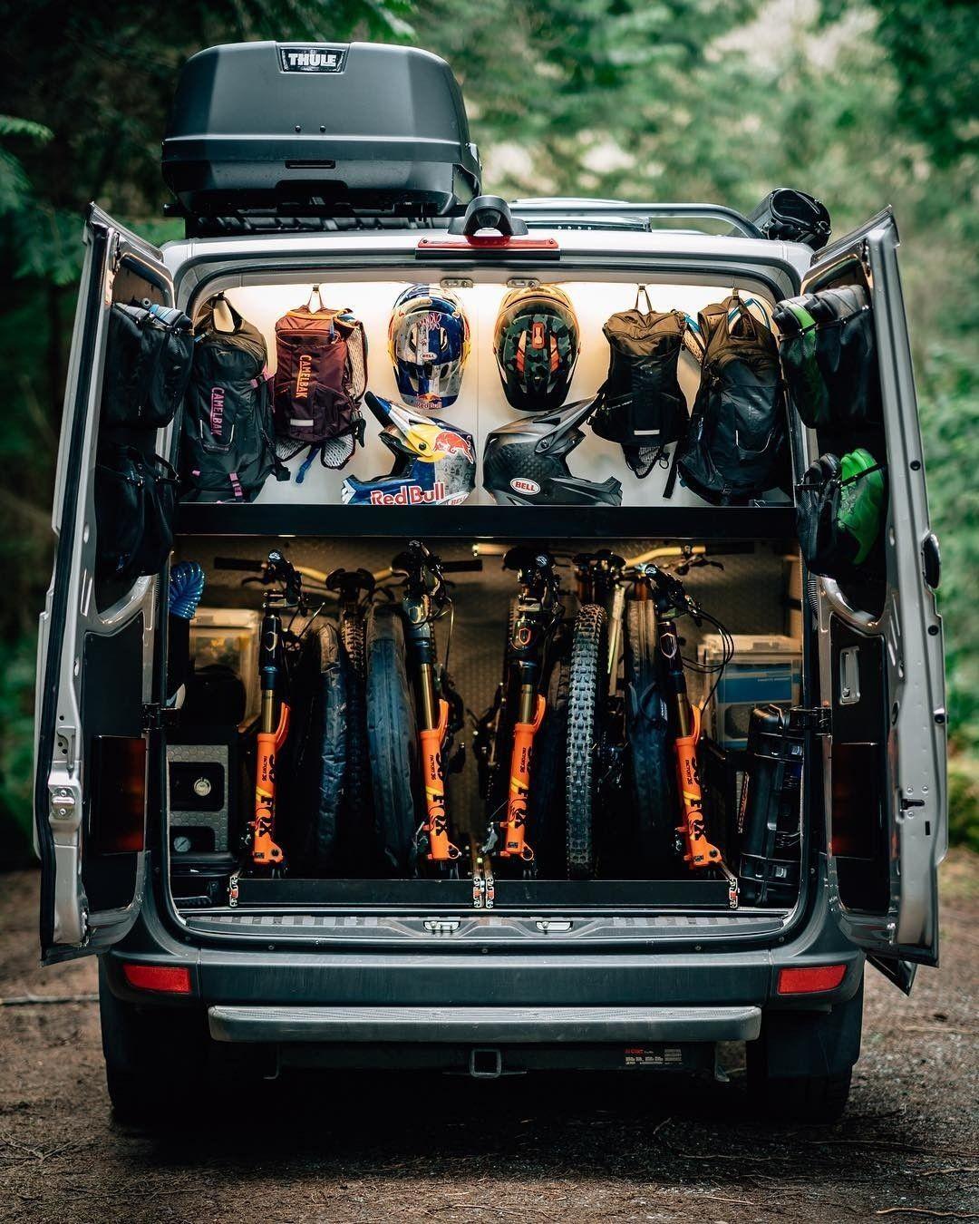 Cycling Van Bike Storage In Van Sprinter Van Camper Build A