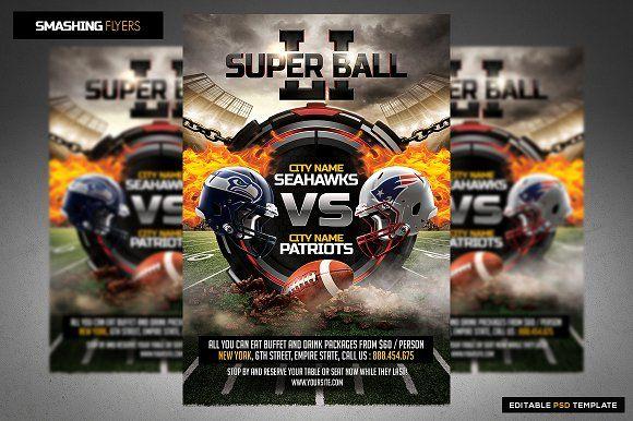 American Football Flyer Template  Ftbol Ftbol Americano Y Diseo