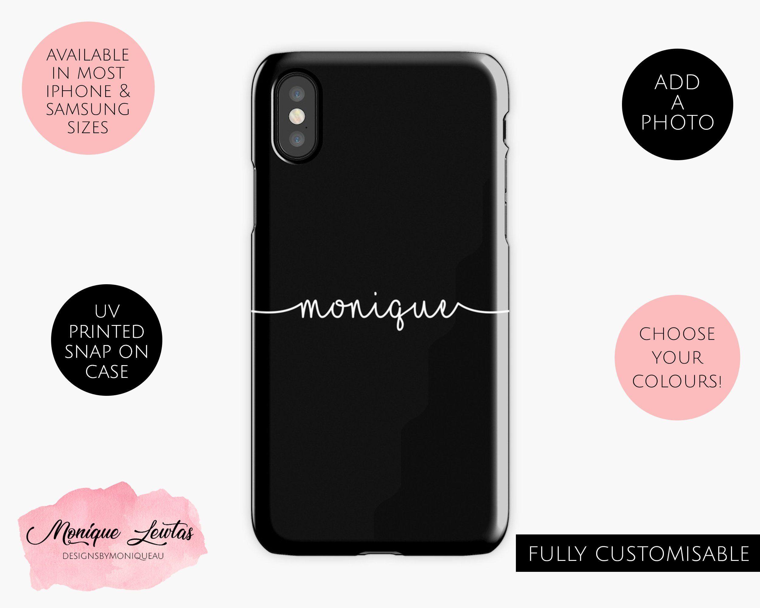 new product fa7e8 0e48a Custom Personalised Name Phone Case, Personalised Phone Cover ...