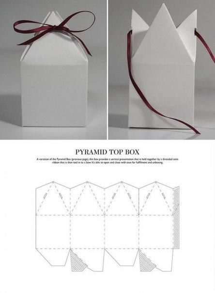 Pyramid top box Packaging Pinterest - pyramid template