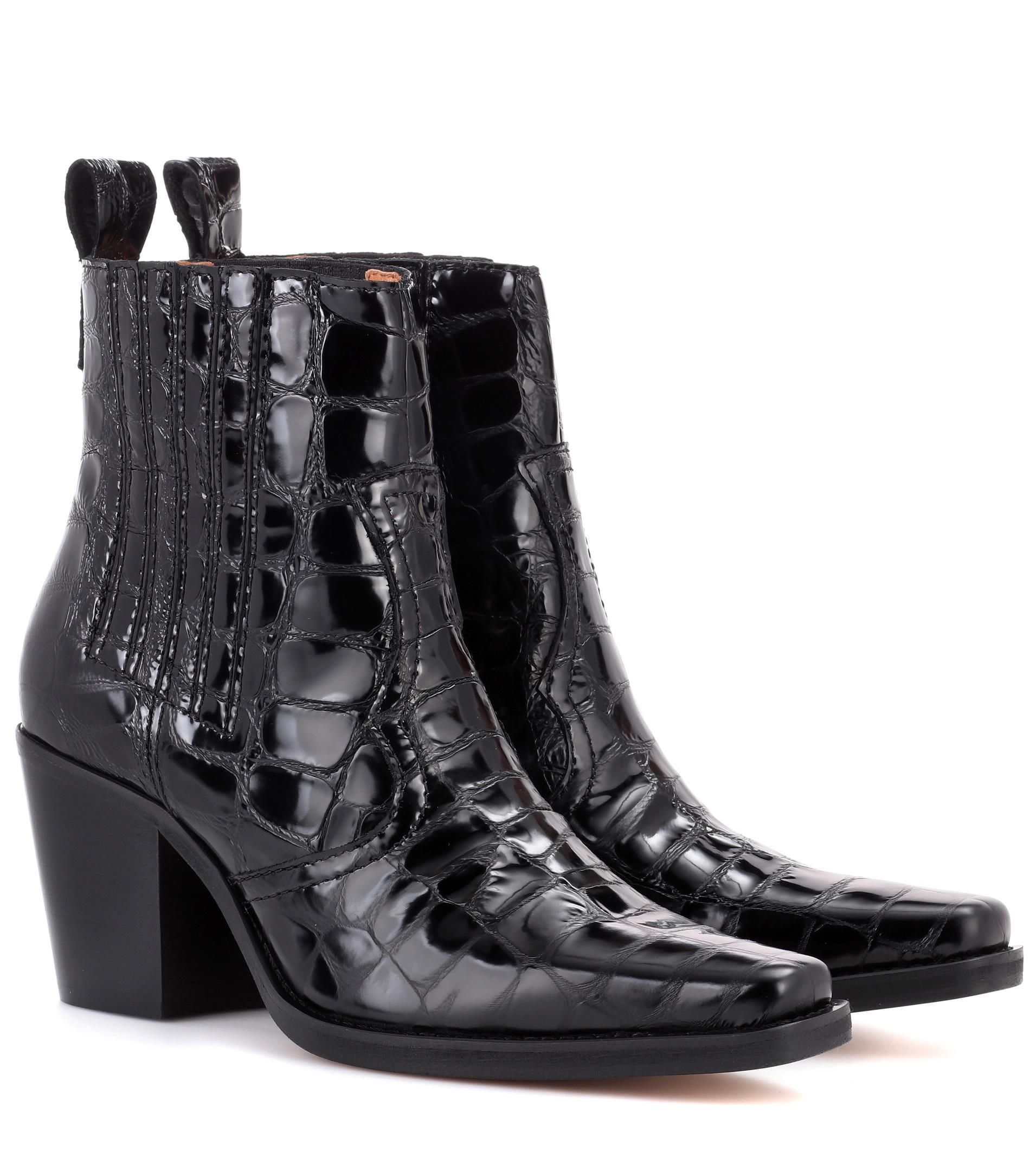 d40bc75d995 Women s Black Callie Embossed-leather Ankle Boots