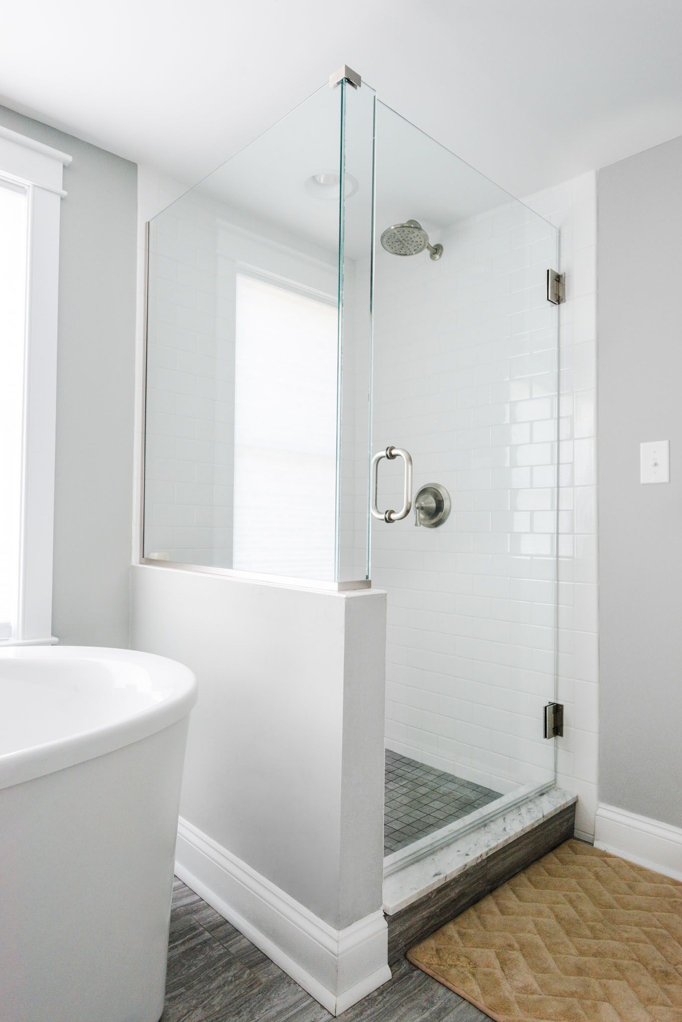 Brothers Services Is Maryland S Full Service Remodeler And Contractor White Subway Tile Shower Bathrooms Remodel Walk In Shower [ 2048 x 1367 Pixel ]