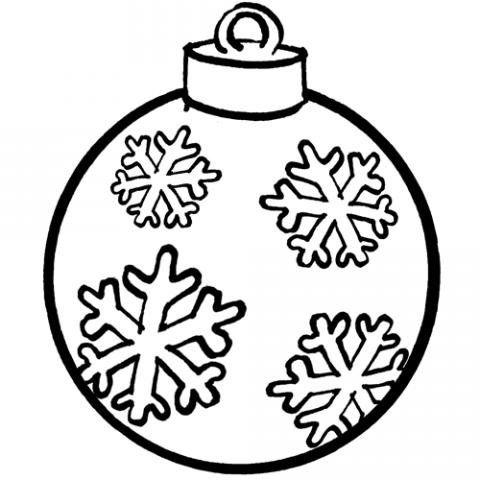 Bolas De Navidad Dibujos Para Colorear.Bola De Navidad Dibujo Gratis Para Ninos Kids Bolas De
