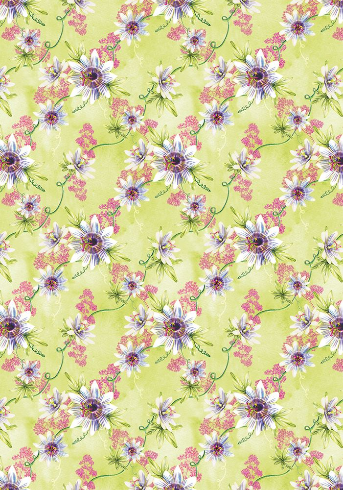 Relaxation Passionflower And Valerian Pattern By Amanda Dilworth Www Amandadilworth Co Watercolor Pattern Design Surface Pattern Design Watercolor Pattern