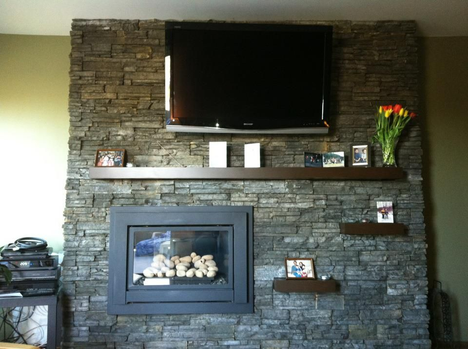 Offset Fireplace For The Home Pinterest