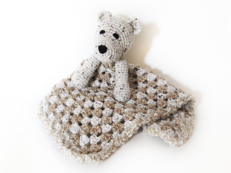 Bear Lovey CROCHET PATTERN instant download - blankey, blankie ...