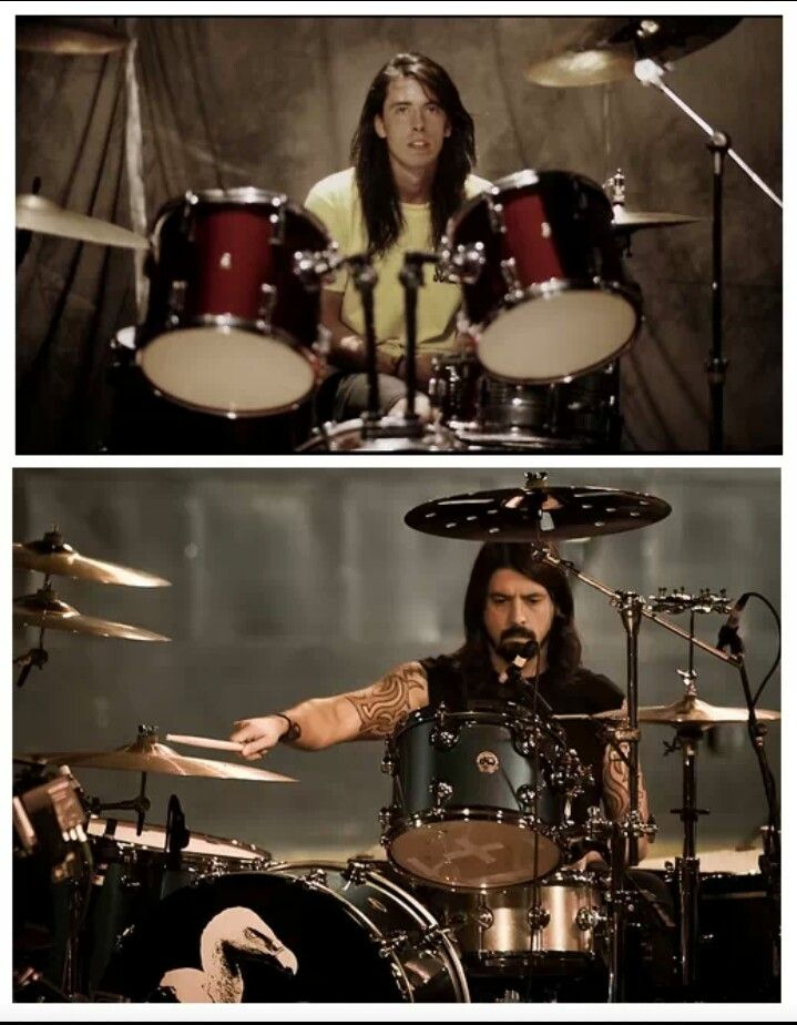 Dave Grohl....then and now
