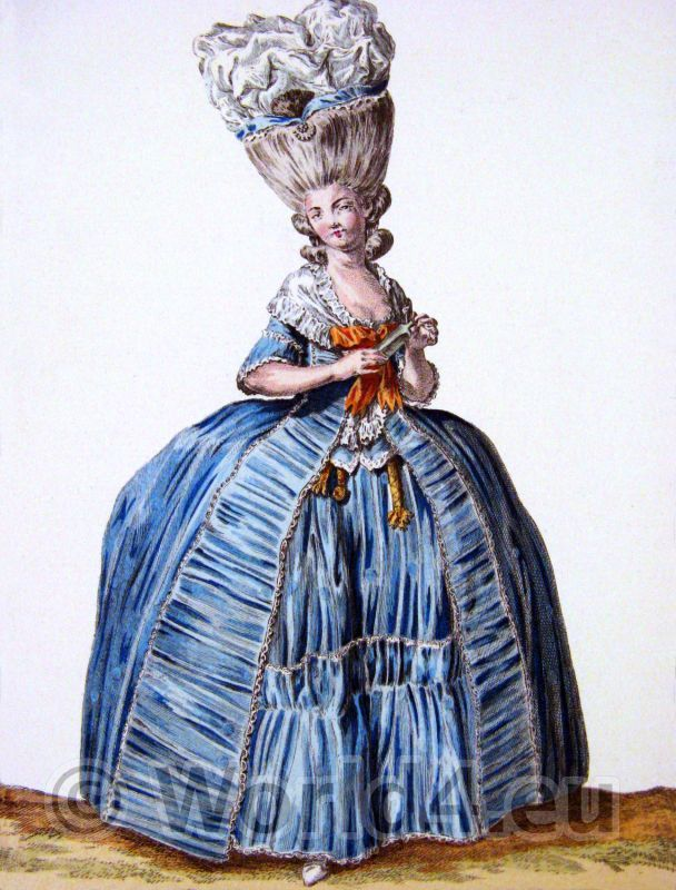 The influence of Marie Antoinette on fashion. The Reign of Louis XVI ... 6f0bf60073f