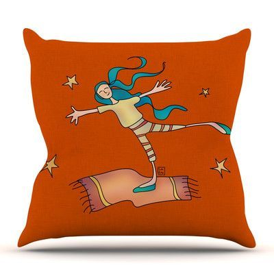 KESS InHouse Being Free by Carina Povarchik Throw Pillow Size: