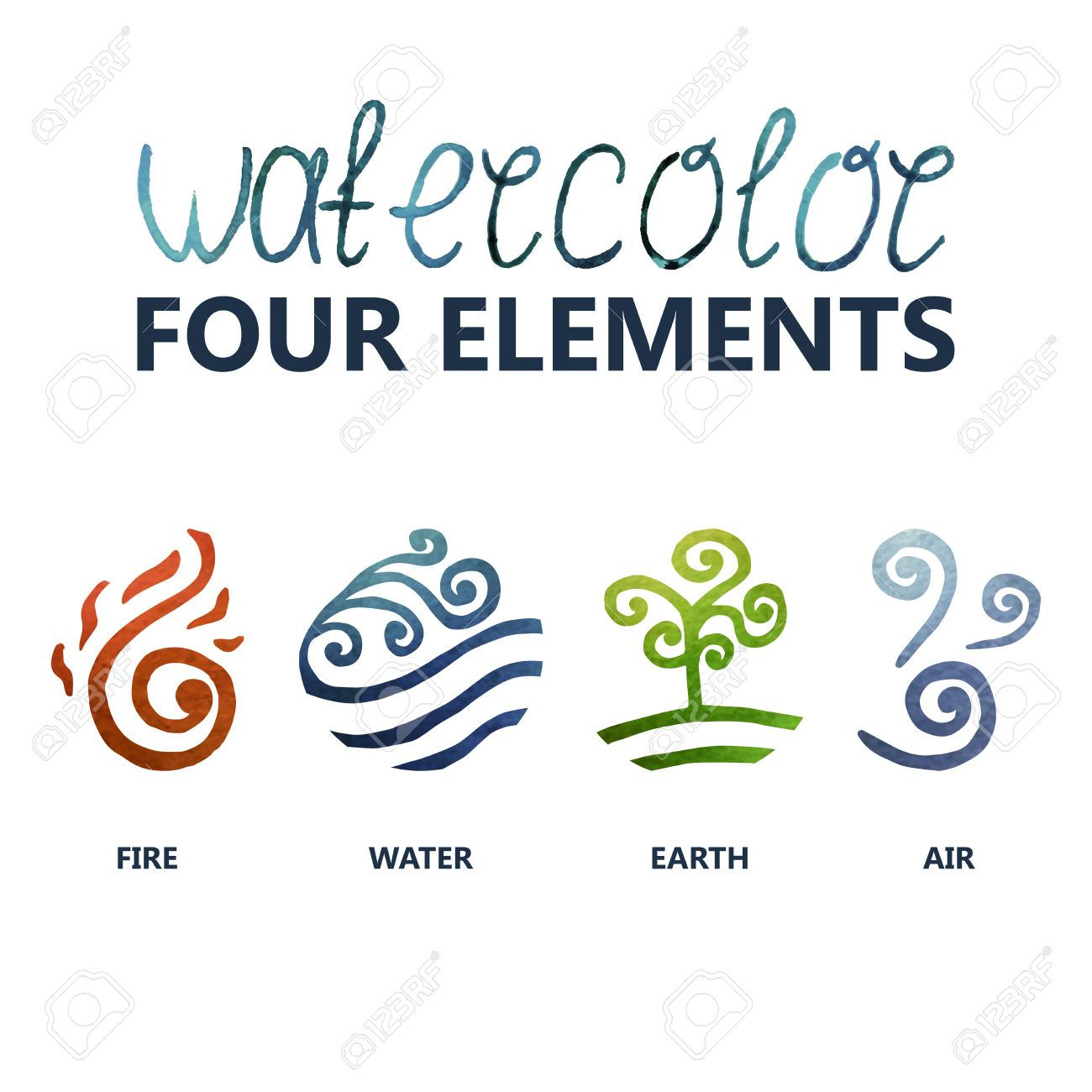 Fire Water Earth Air 4 Elements Pinterest Symbols Tattoos