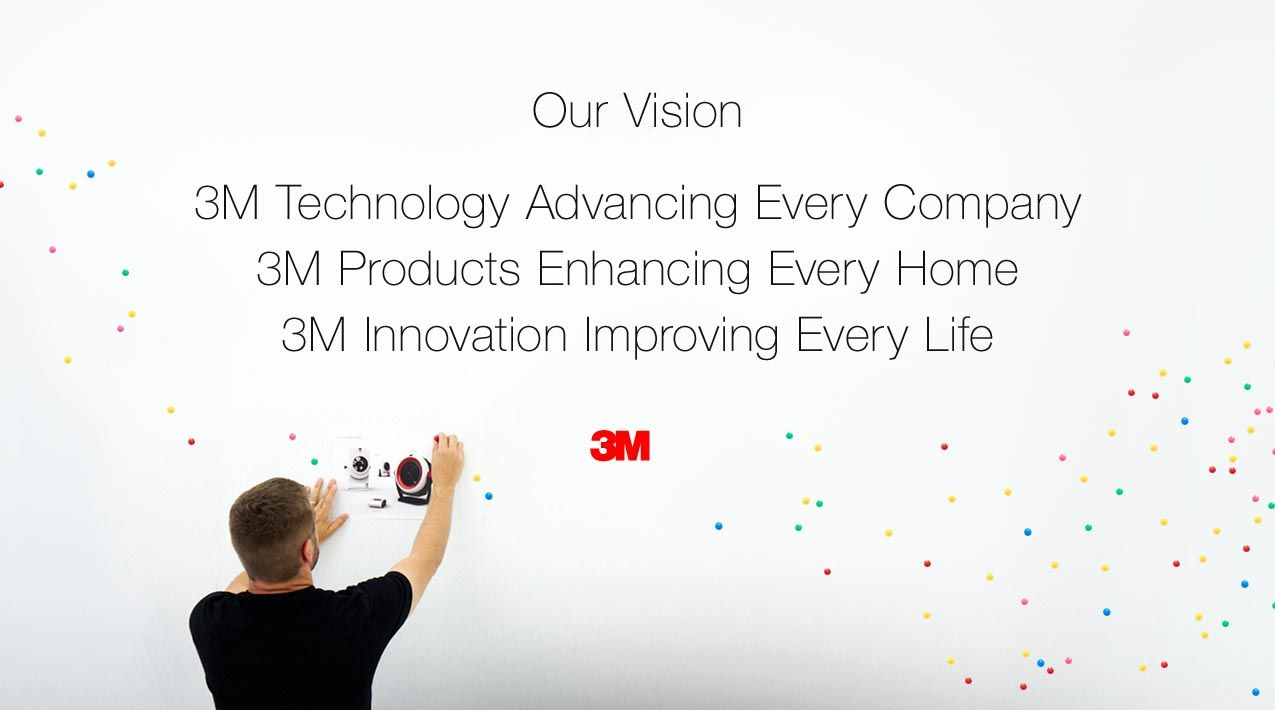 3m vision statement 3m technology advancing every company 3m products enhancing every home 3m innovation improving every life