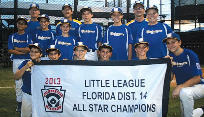 Windermere Little League 11/12 All-Stars celebrate winning the