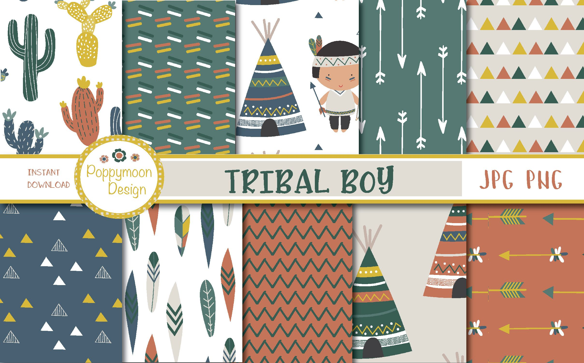 Download Free Tribal Boy Paper Graphic By Poppymoondesign Tribal Graphic Tribal Patterns SVG Cut Files