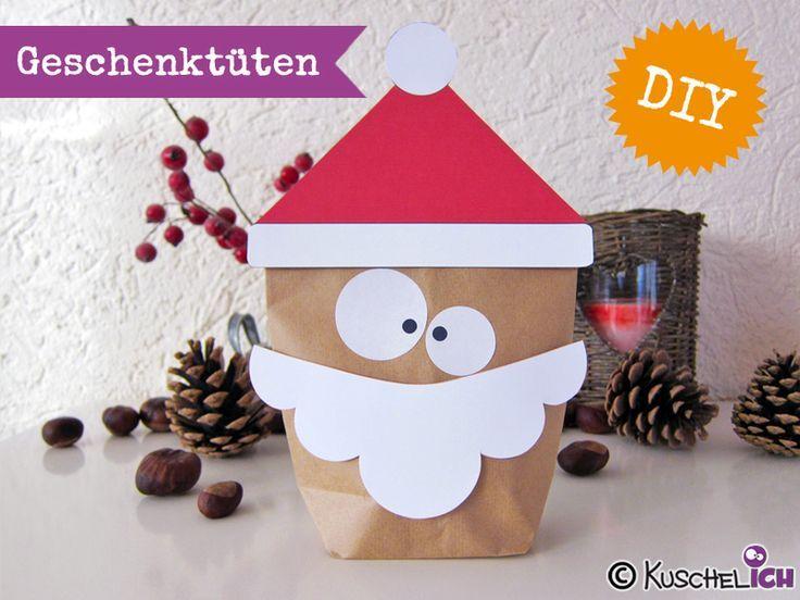 DIY ☆ 6 Geschenktüten☆ Nikolaus / Santa von K... - #DIY #Geschenktüten #Nikolaus #sack #Santa #von #nikolausgeschenk