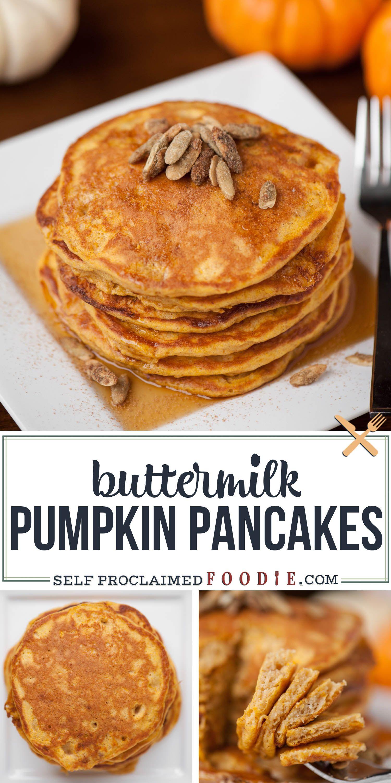 Pumpkin Buttermilk Pancakes In 2020 Pumpkin Buttermilk Pancakes Favorite Breakfast Recipes Pumpkin Recipes