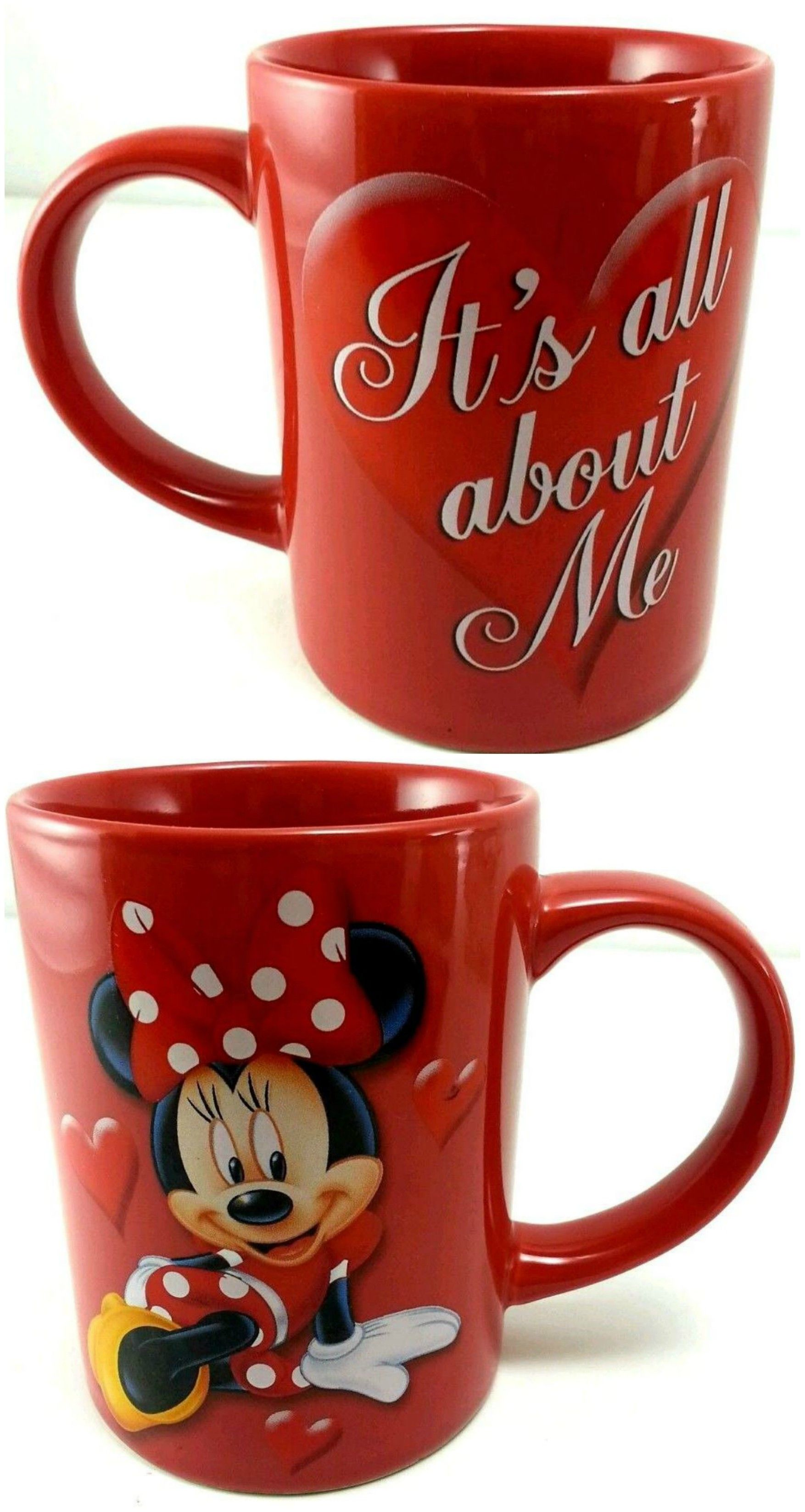 cfcd04d0f60 Disney's Minnie Mouse bright red Jerry Leigh It's All About ME coffee mug.  LOVE it. Great for Valentine's Day, too!