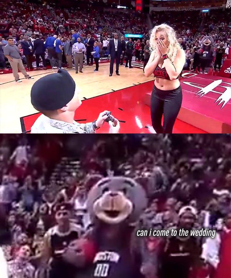 Houston Rockets Dancer Gets Proposal Surprise Instead Of