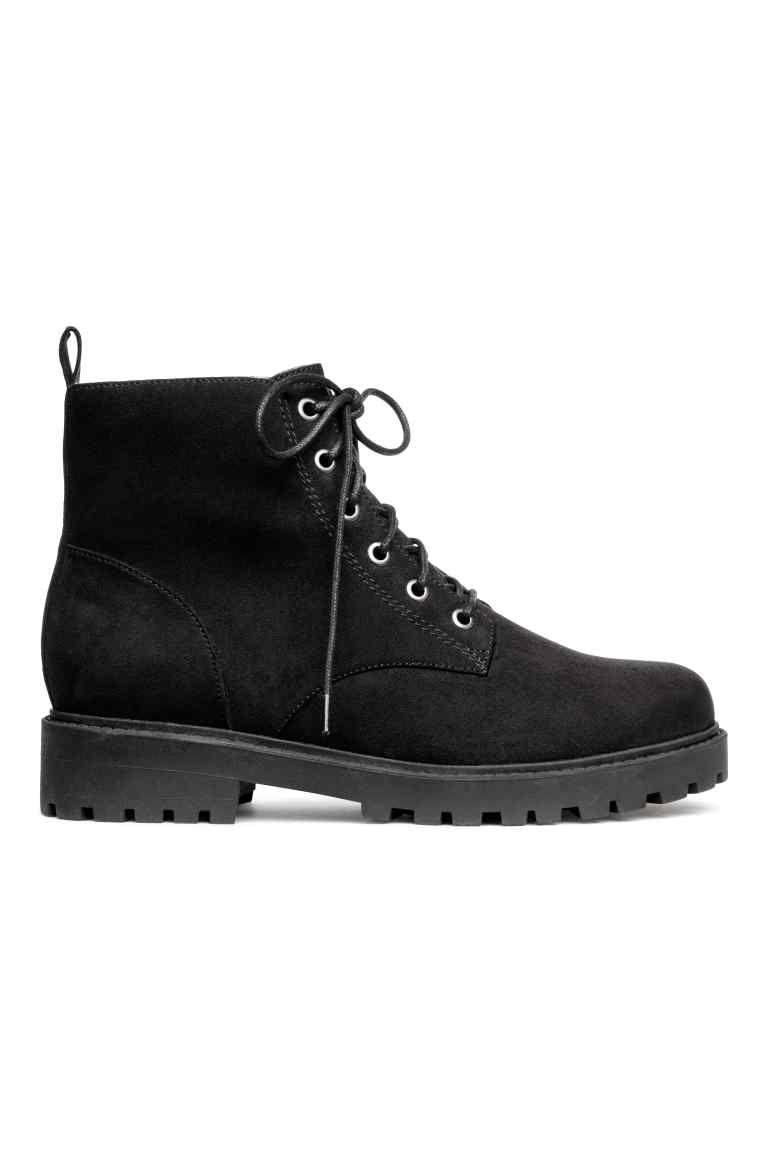 Boots met teddy voering - Zwart - DAMES | H&M NL
