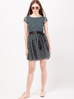 THE VANCA Star Print Skater Dress from koovs.com  Skater Dress cute #casualoutfit #ramirez701 #SkaterDress #Skater #Dress #topdress www.2dayslook.com