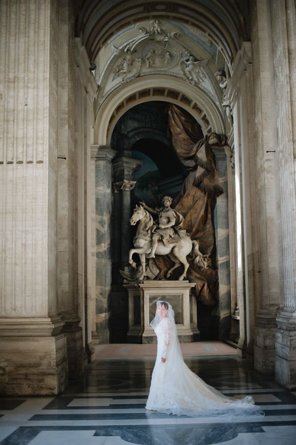 Amazing wedding location at the Vatican in Rome, Italy - photos by Rochelle Cheever   via junebugweddings.com