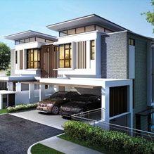 Fera Distinguished Luxury Waterfront Twin Villa Putrajaya Holdings Row House Design Architecture House Duplex House Design