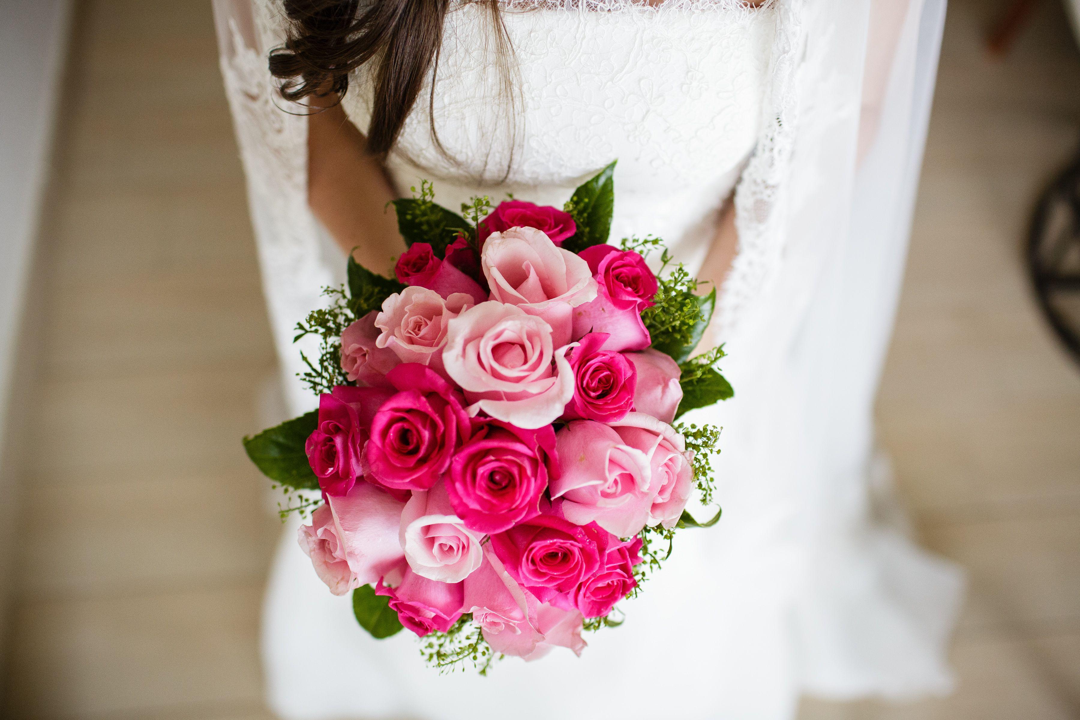 Bouquet de Rosas Rosadas y Rosas Fucsias..ideales para una novia muy ...