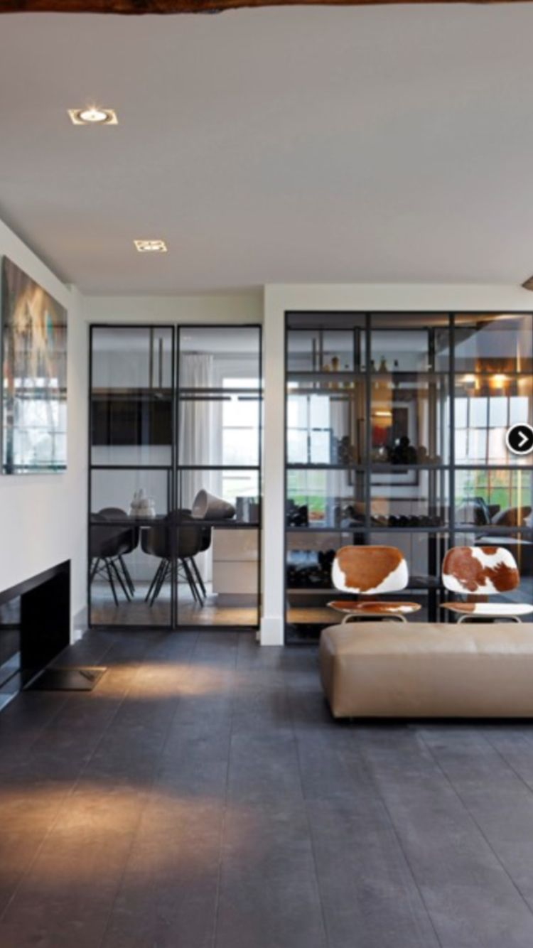 Kast tussen woonkamer en keuken, Bakker Staal Aalsmeer | Stalen deur ...
