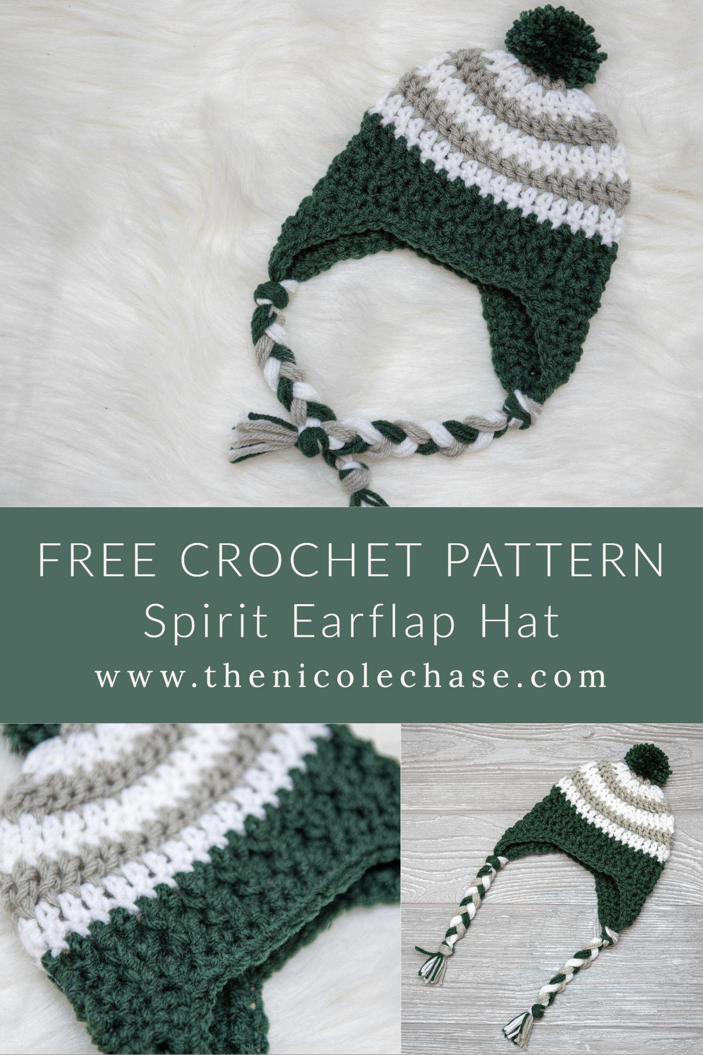 Spirit Earflap Hat Free Crochet Pattern Nicole Chase Crochet Hats Crochet Baby Hat Patterns Toddler Crochet Patterns