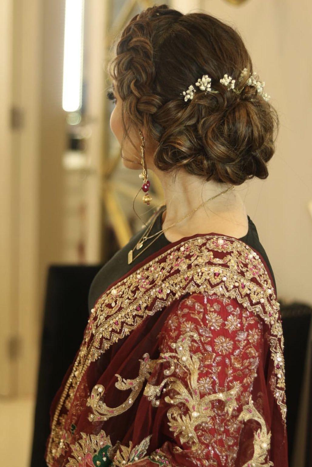 Pinterest Abeera Mehar Pakistani Hair Hair Styles Bridal Hair Buns