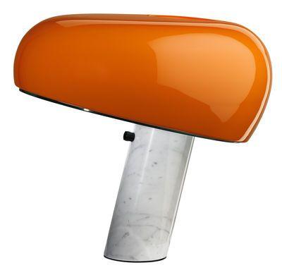 Lampe de table Snoopy / Edition limitée - Métal & base marbre Orange / Base blanche - Flos