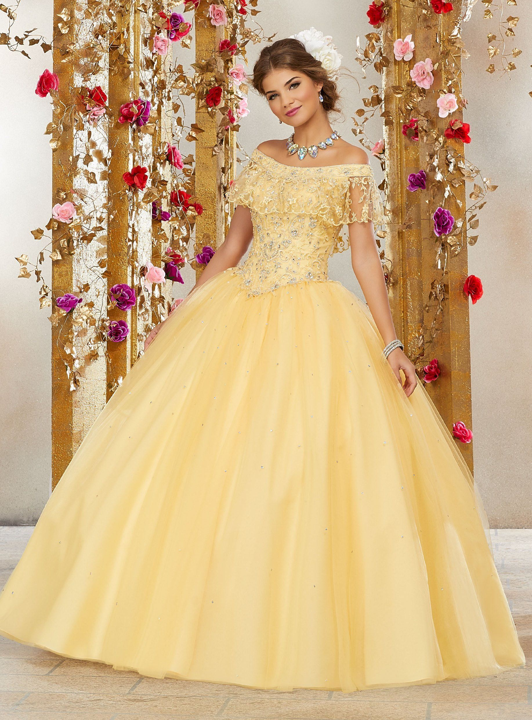3839d06f075ad Off the Shoulder Quinceanera Dress by Mori Lee Valencia 60075 in ...