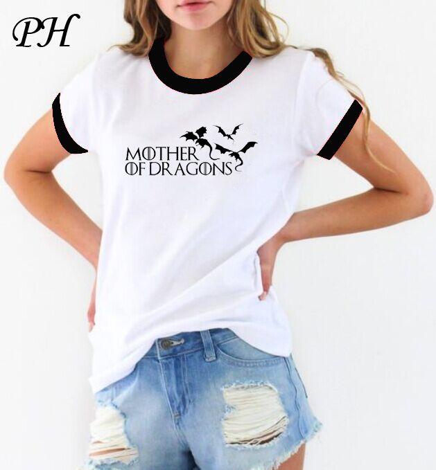 4d46a18ad49 Aliexpress.com: Comprar PH Verano 2016 Camiseta mujer Juego de Tronos  ringer t shirt