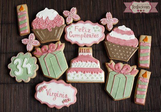 Galletas Decoradas De Cumpleaños Decorated Cookies Galletas Decoradas Cumpleaños Galletas Decoradas Galletas De Cupcake