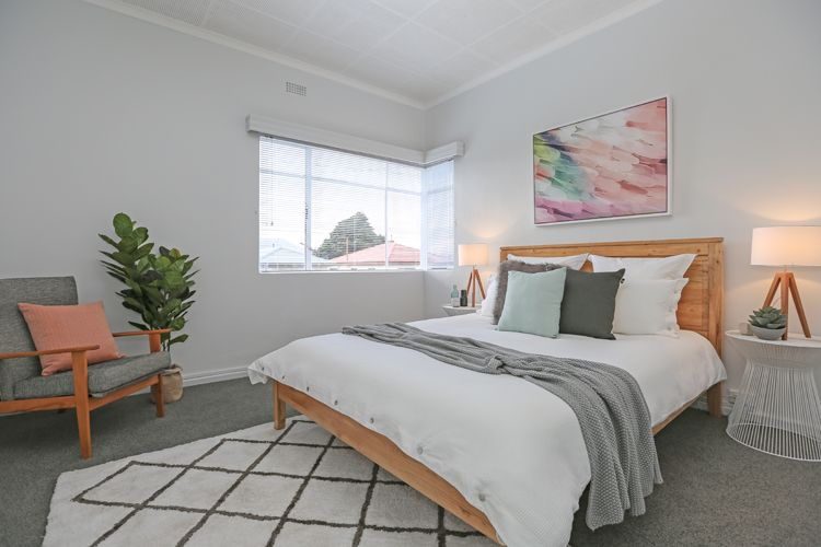 Master Bedroom White Bedding Timber Queen Bed Frame Cross Floor