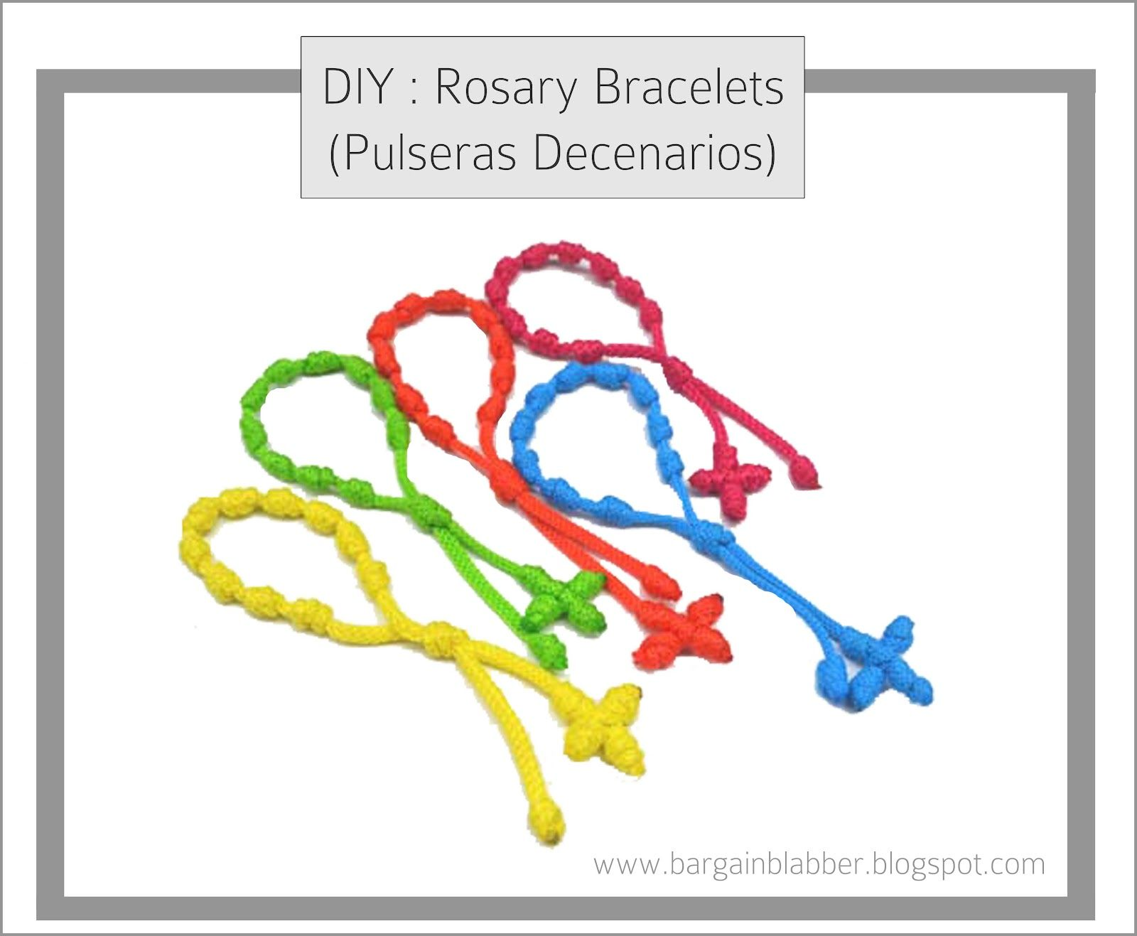 how to make a rosary bracelet for kids