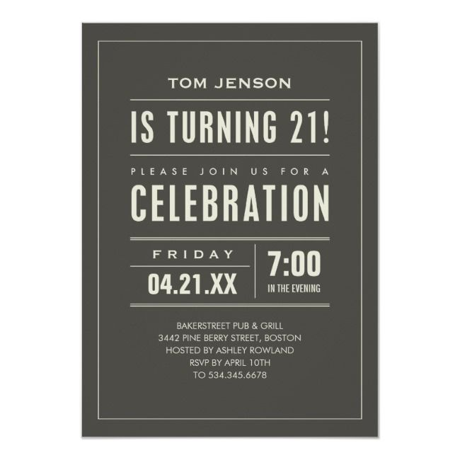 21st Birthday Party Invitations Birthday#Party#Invitations#Shop