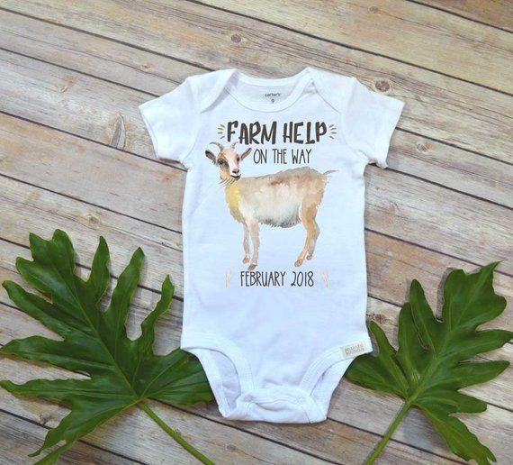7c8d187b2 Farm Help on the Way, Pregnancy Announcement, Goat Farm, Farm Baby ...