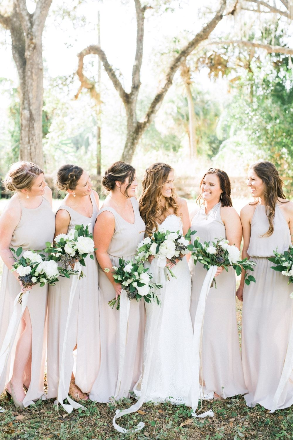 A Fort Myers Wedding With French Country Style With Images Beach Wedding Bridesmaids Wedding Bridesmaid Flowers