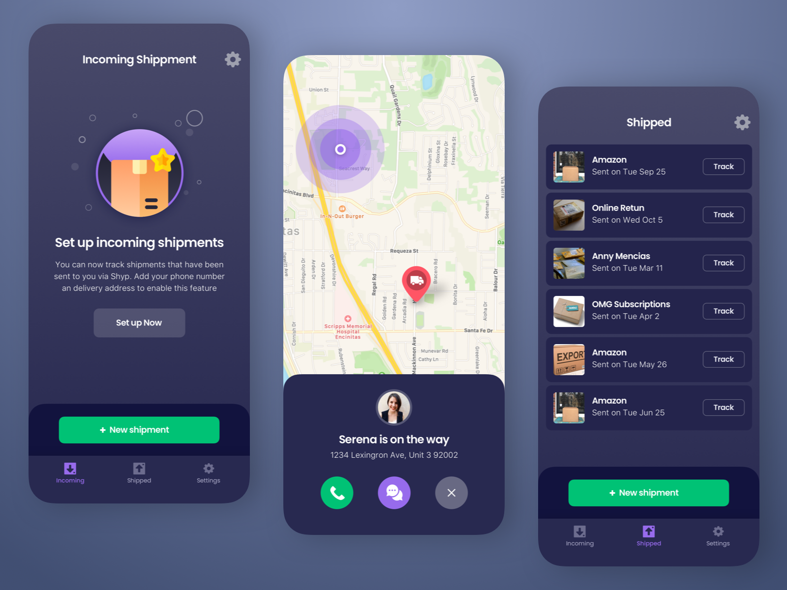 Shipment Tracking App in 2020 Tracking app, Event app