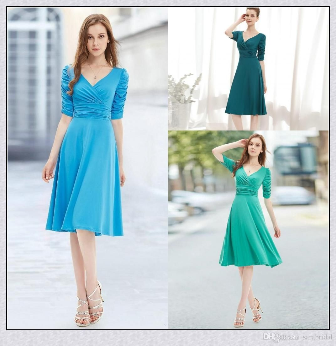 Pastel Bridesmaid Dresses Simple Bridesmaid Dresses Sexy V Neck Half ...