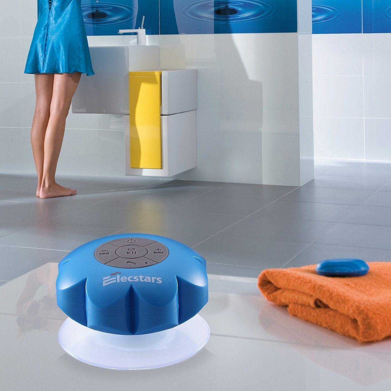 Shower Speaker, Elecstars Water Resistant Bluetooth Waterproof ...