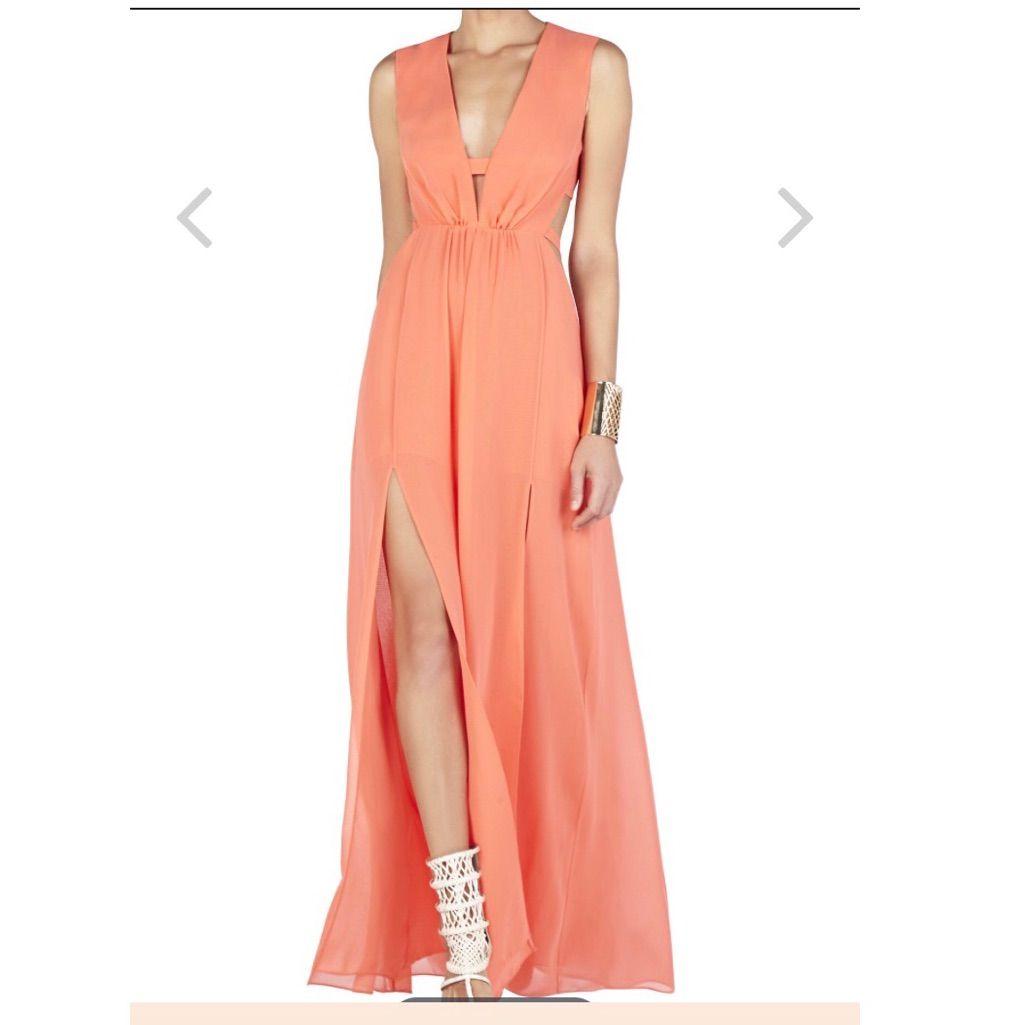 Bcbgmaxazria Plung V Neck Cutout Gown | Pinterest | Products