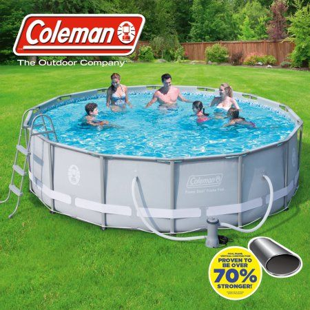 Coleman 14 X 42 Power Steel Frame Above Ground Swimming Pool Set Walmart Com Swimming Pools Pool Above