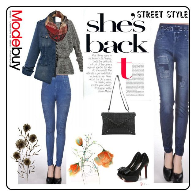 """""""Modebuy.com street style jeans"""" by modebuy on Polyvore featuring Black Rivet and modebuy"""